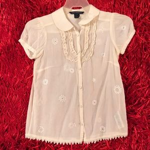 FCUK embroidered button down shirt
